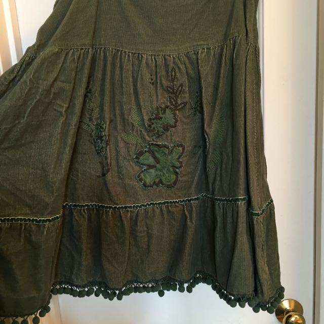 5dd3b80ec1 Best Zara Trf Green Corduroy Skirt With Fringe & Embroidered Flowers, Size  Xl for sale in Nashville, Tennessee for 2019