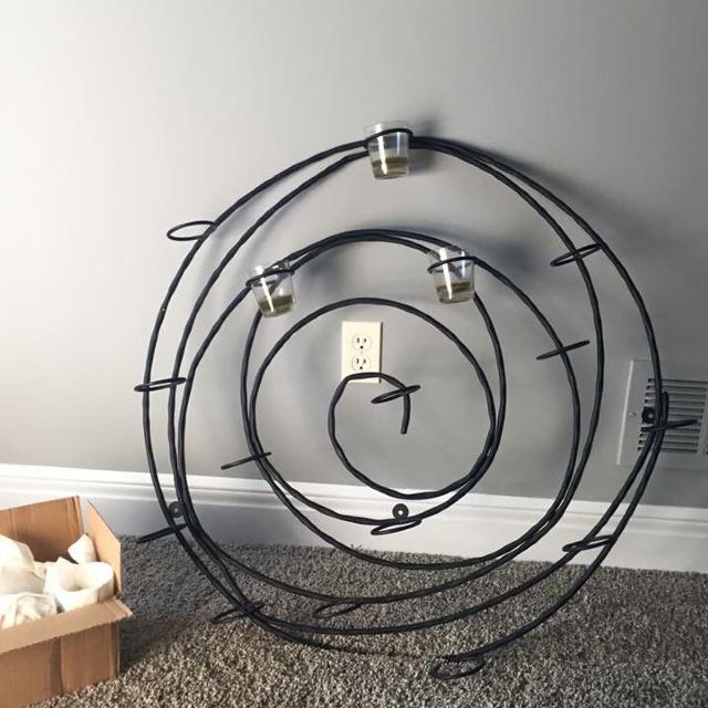 Pottery Barn Spiral Wall Mount 16 Votive Candleholder Dimensions 33 In Diameter
