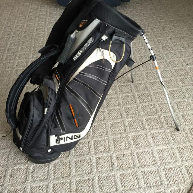 Ping Golf Bag Backpack Straps Attached And Kickstand