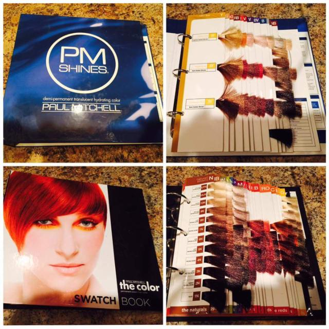 2 paul mitchell color swatch books excellent condition - Paul Mitchell Color Swatch Book