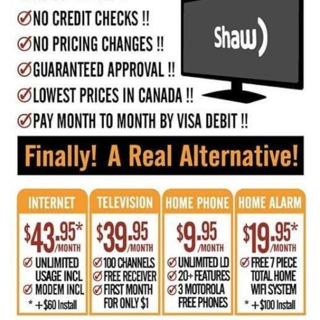 UNLIMITED INTERNET AND SATELLITE TV $88/M NO CREDIT CHECK TEXT 647 703 2785  0R CALL 1855 856 6864