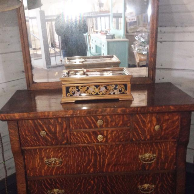 Antique Tiger Maple Dresser