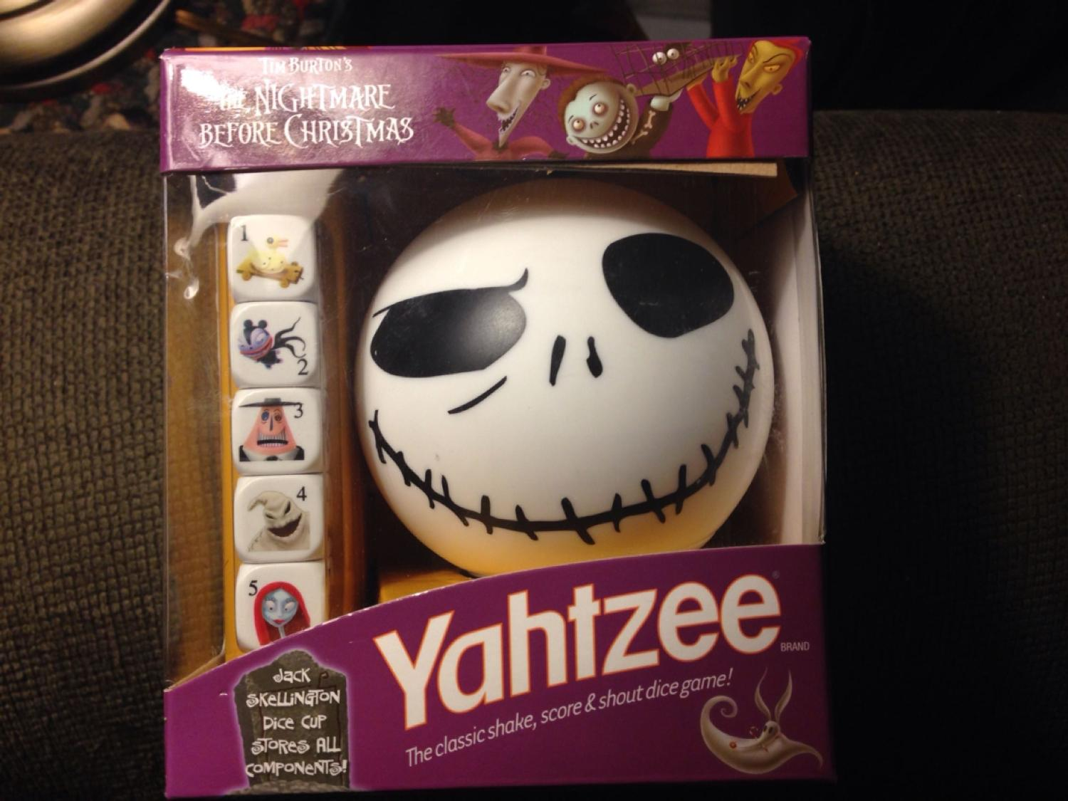 Find more New, Nightmare Before Christmas Yahtzee Game for sale at ...
