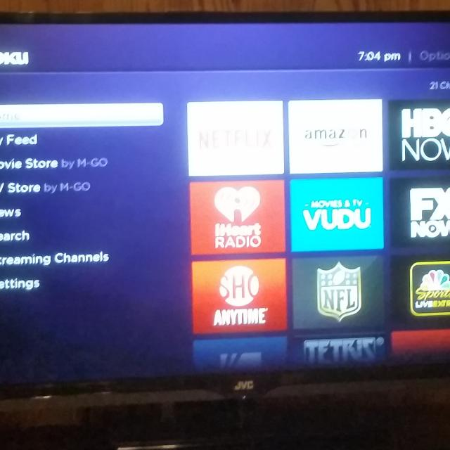 Jvc 37 inch flat screen with Google Chrome cast