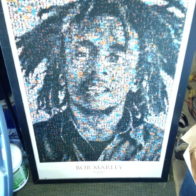Bob Marley picture big with frame $10