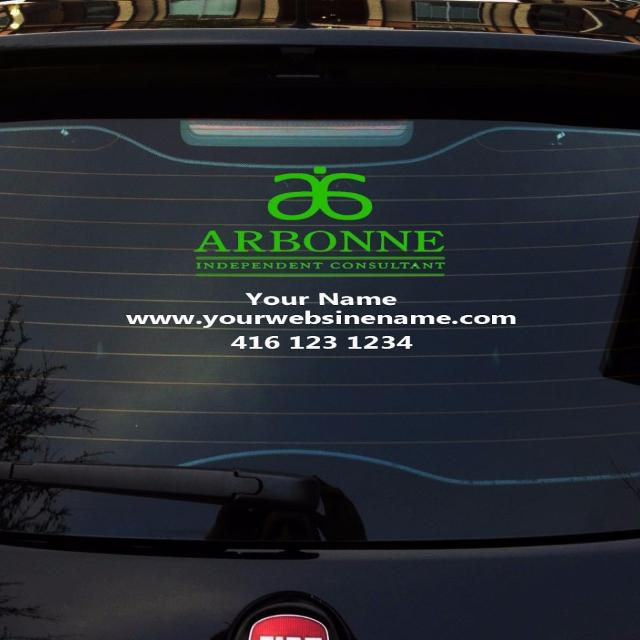 Arbonne car decal