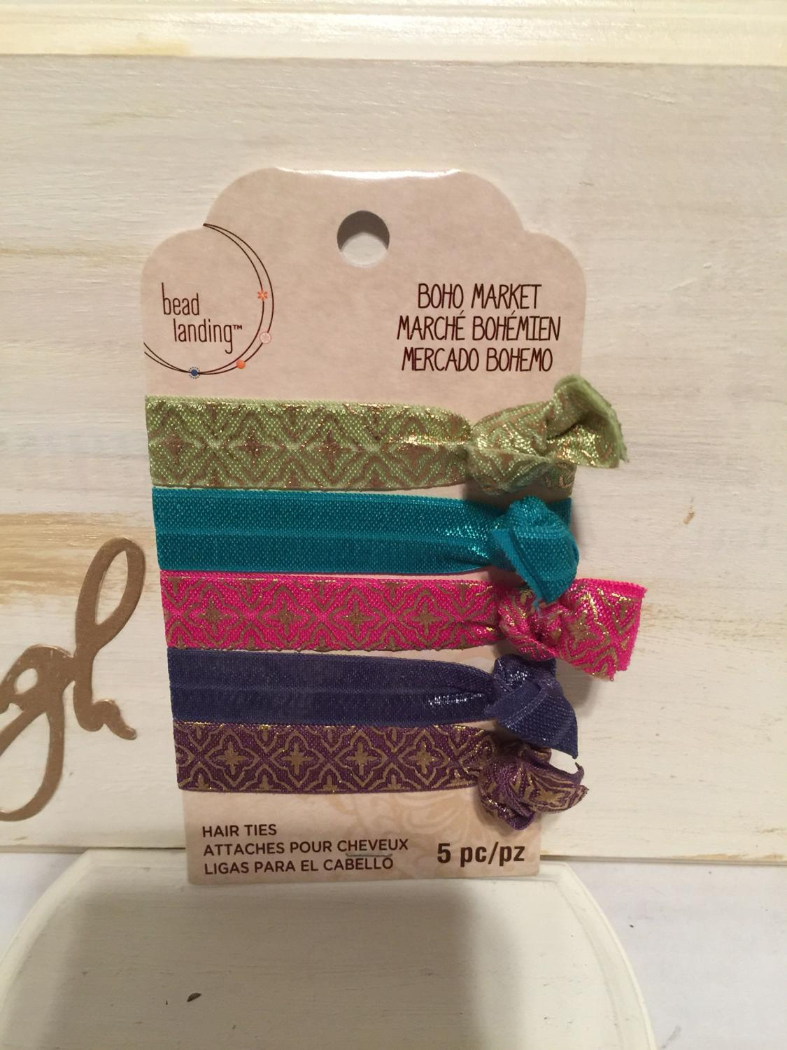Find more Brand New Boho Market Set Of 5 Hair Ties for sale at up to 90% off 8dbc3de9127