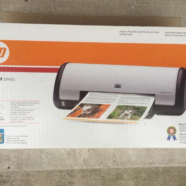 Never been used HP Deskjet D1455 printer  Great for photo printing!