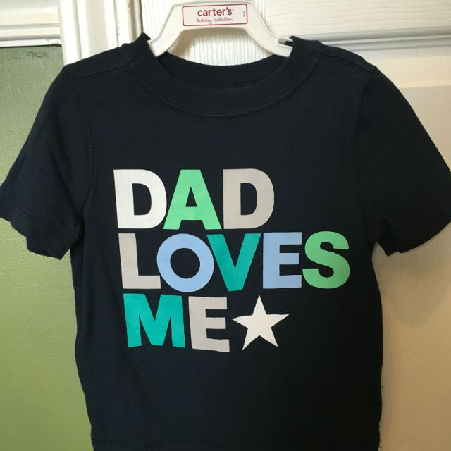 f60fd91e Find more Euc Old Navy Dad Loves Me Shirt Size 18-24 Months $3 X ...