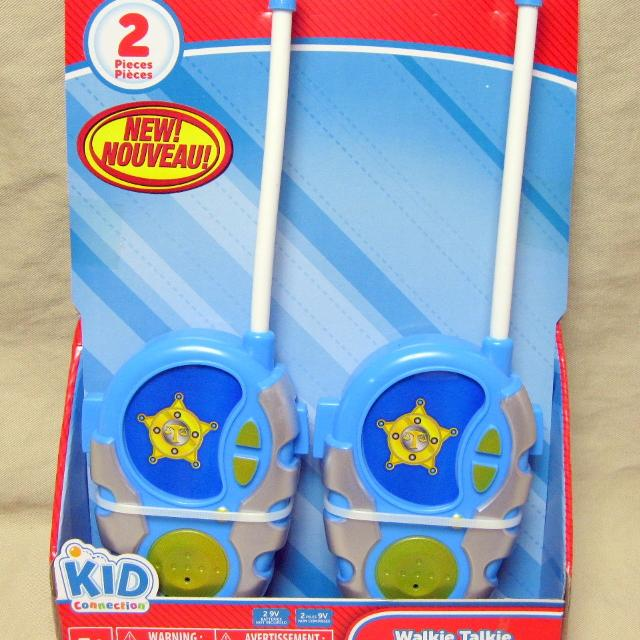 New in Package 2 Walkie Talkies Kid Connection police themed