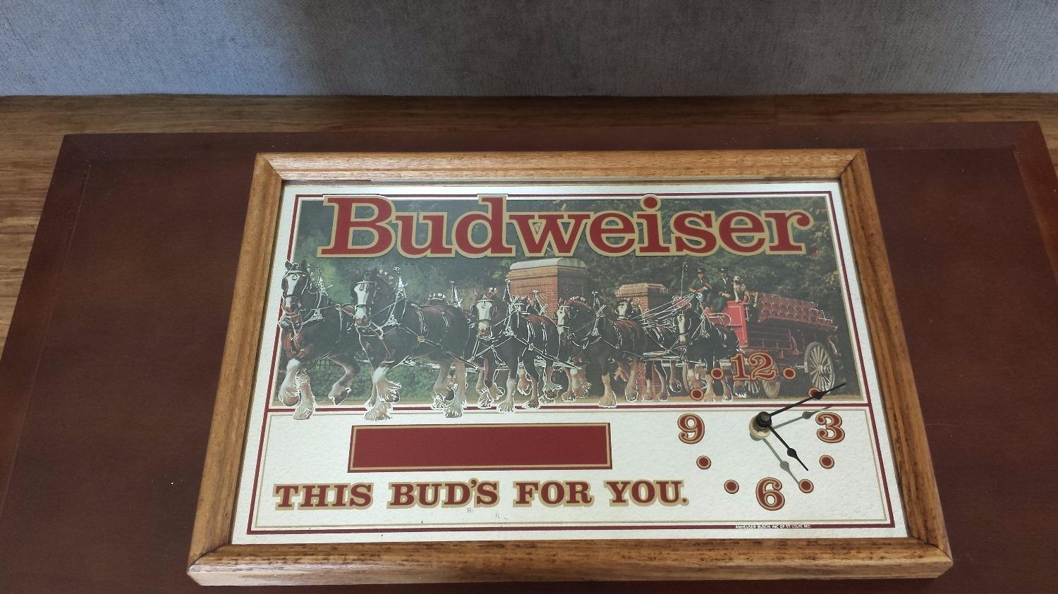 Find More 1975 Budweiser Quot This Bud S For You Quot Wood Framed