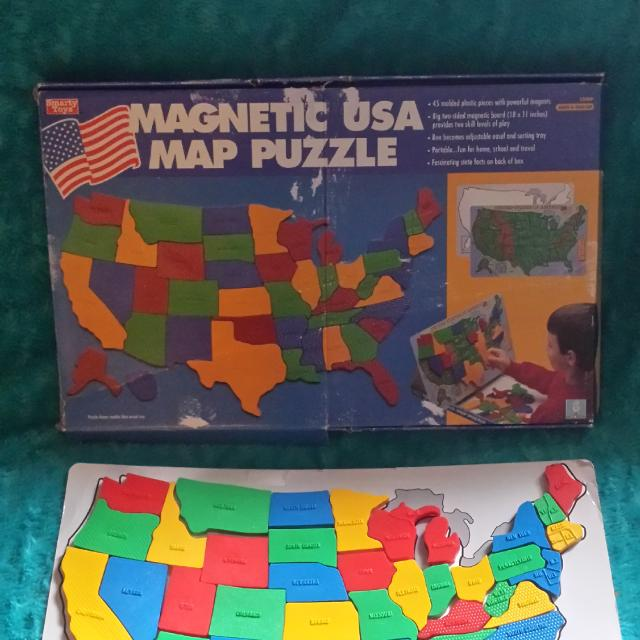 Find more Magnetic Usa Map Puzzle for sale at up to 90% off