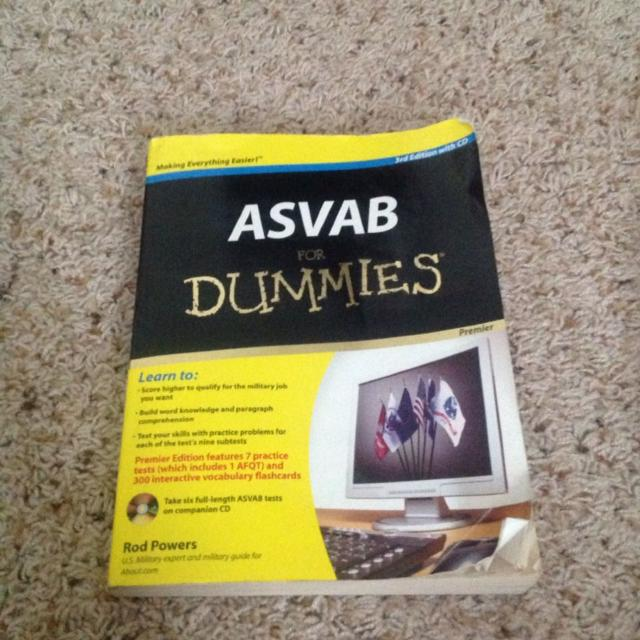 ASVAB for Dummies book