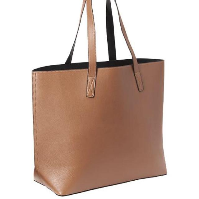 8d23b8a491 Find more Old Navy Brown   Black Faux-leather Reversible Tote for ...