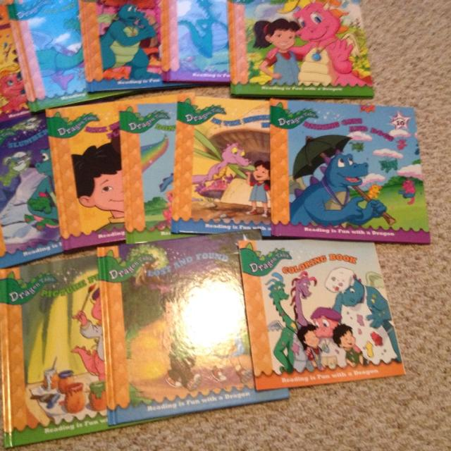 Set Dragon Tales Books Never Ever Read All 12 Plus A New Coloring Book