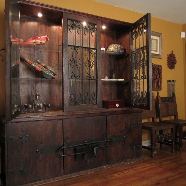 Handmade Mexican Style China Curio Cabinet