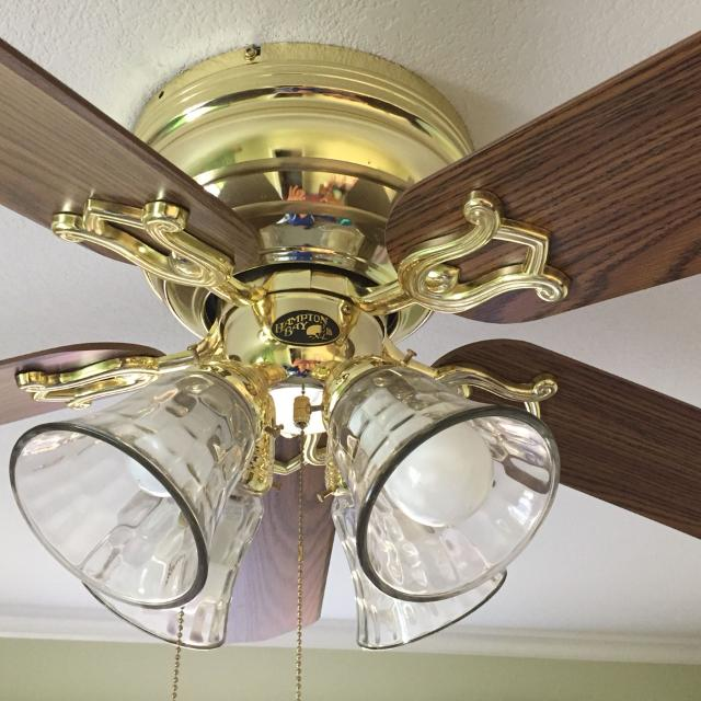 Hampton Bay 52 Carriage House Polished Brass Ceiling Fan