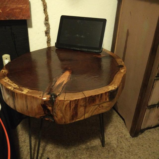 Best Redwood Round Side Table For Sale In Santa Cruz California For - Redwood side table