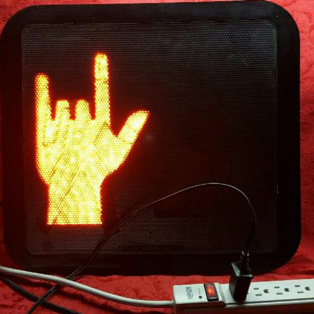 Best I Love You Asl Sign Language Symbol Led Crosswalk Light Wired