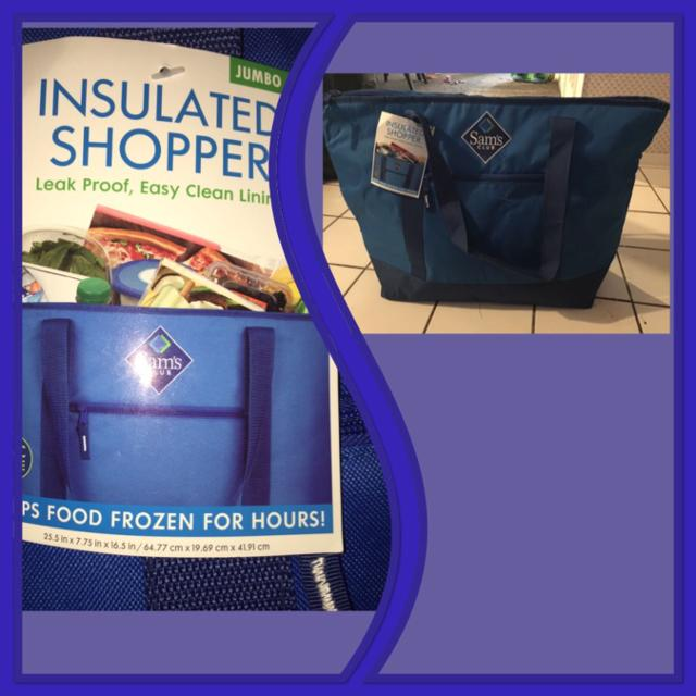 NWT - JUMBO INSULATED SHOPPER (Purchased at SAMS CLUB FOR $13)  Dimension  info is on the bottom of the picture on the tag