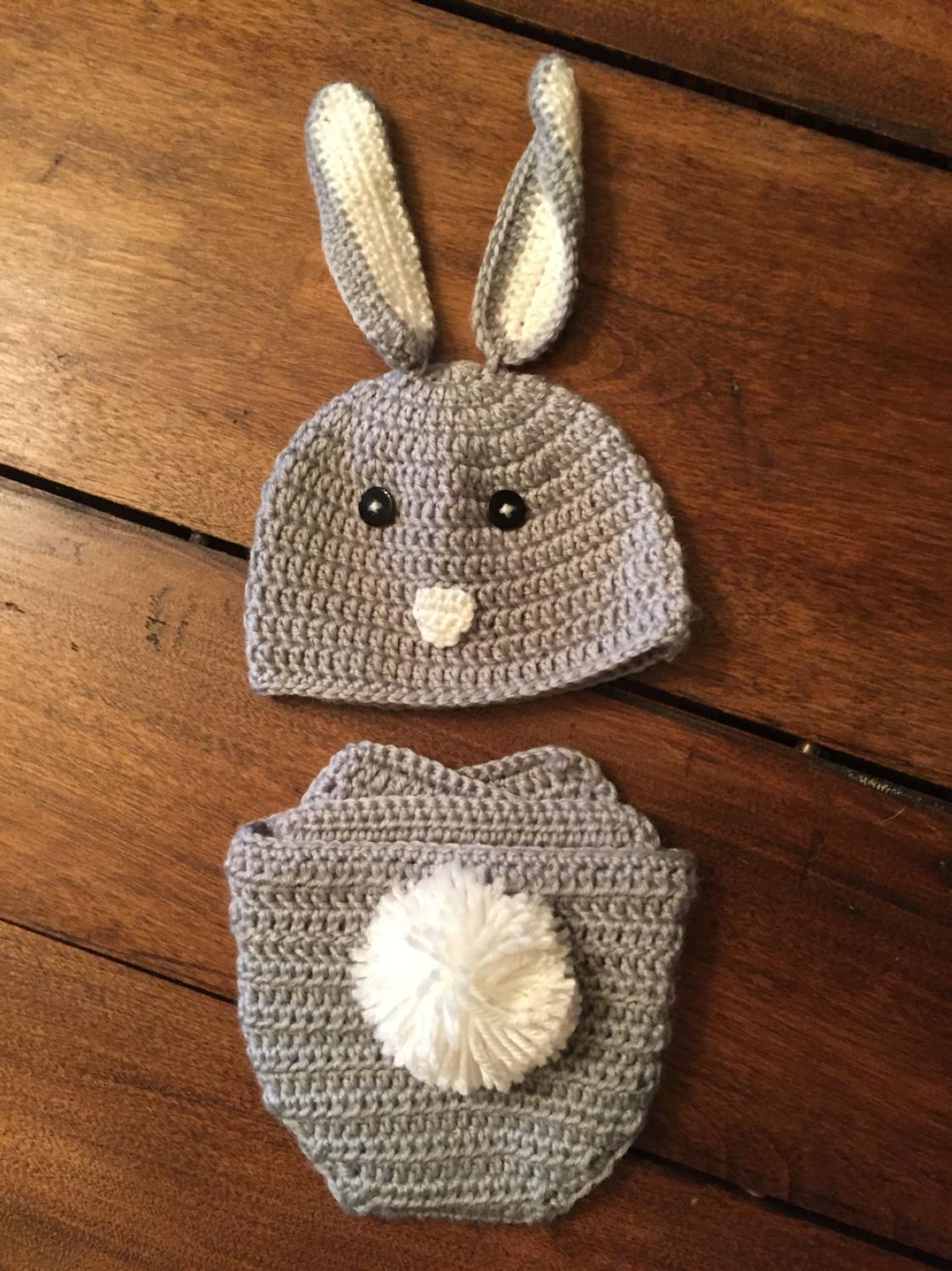 Find more Crocheted Bunny Hat And Diaper Cover From Target- New ...