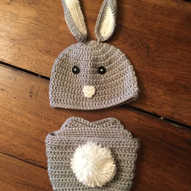 Find More Crocheted Bunny Hat And Diaper Cover From Target New