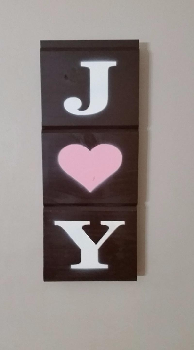 Best 15 In X 6 In Joy Sign Made From Tongue And Groove Carsiding For