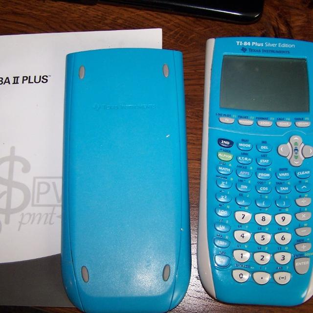 TI-84 Plus Silver Edition graphing calculator, $45