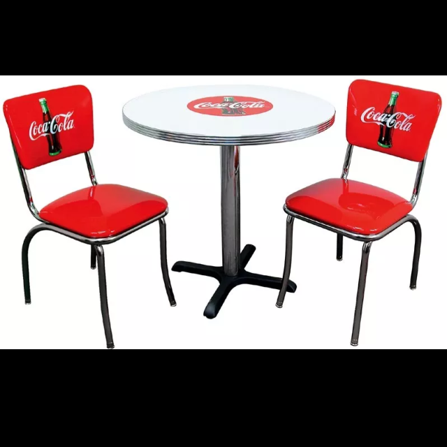 Best Vintage E Coca Cola Table And 3