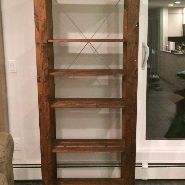 find more ikea hejne shelf stained wood for sale at up to 90 off calgary ab. Black Bedroom Furniture Sets. Home Design Ideas
