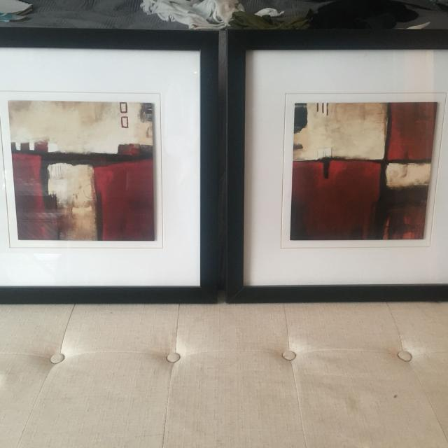 Best Black-red-cream Framed Art 19\