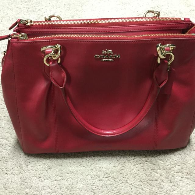Find more Authentic Coach Super Soft Leather Bag. Three Zippers And ... 981db5a10f239