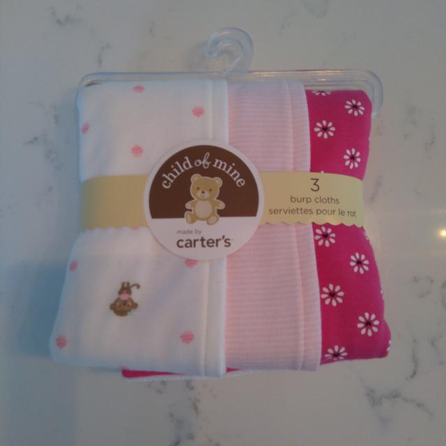 Find More Brand New Carters Pink Burp Cloths Pack Of 3 For 6 For