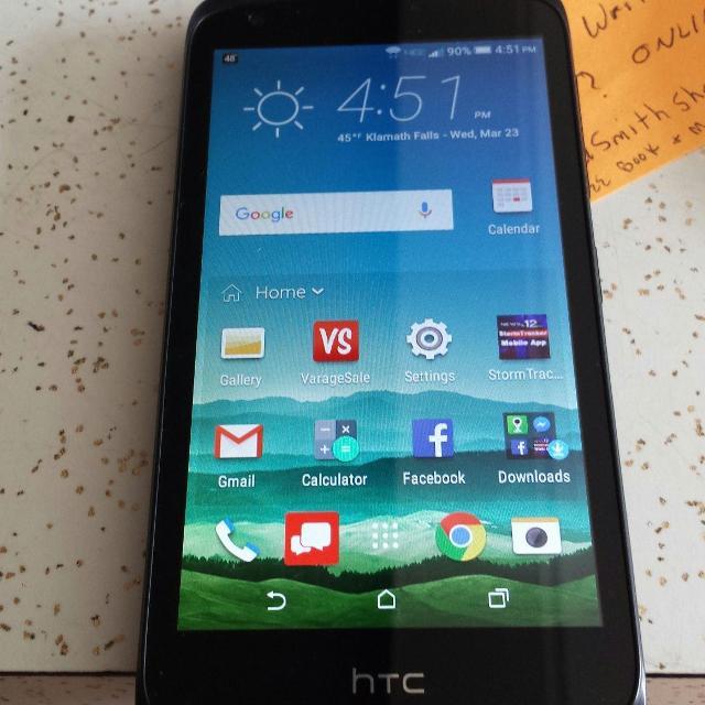 Lower Price $50 00 FIRM  HTC Desire 526 Verizon 4G prepaid phone