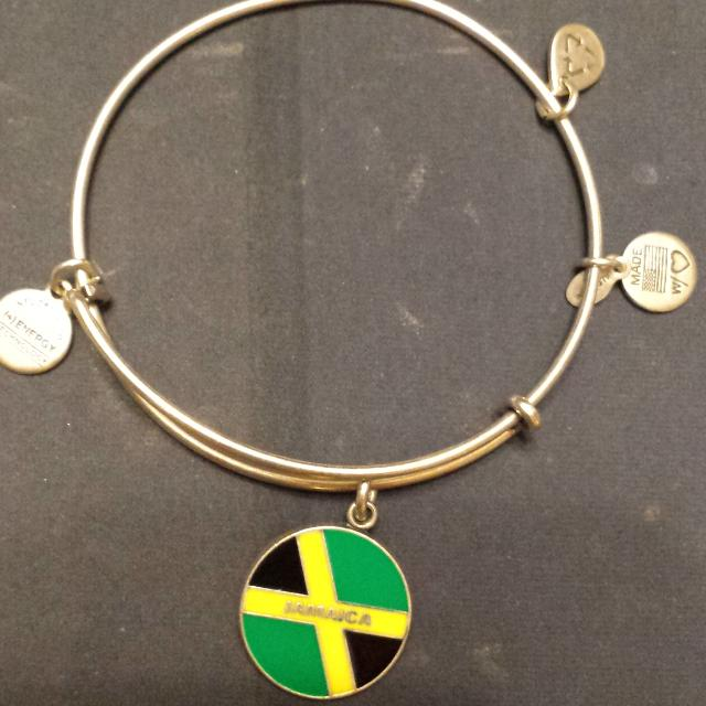 Gently Used Jamaica Silver Tone Bracelet Bought In