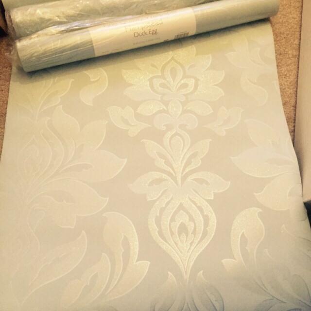 Laura Ashley Duck Egg Wallpaper 4 X Rolls