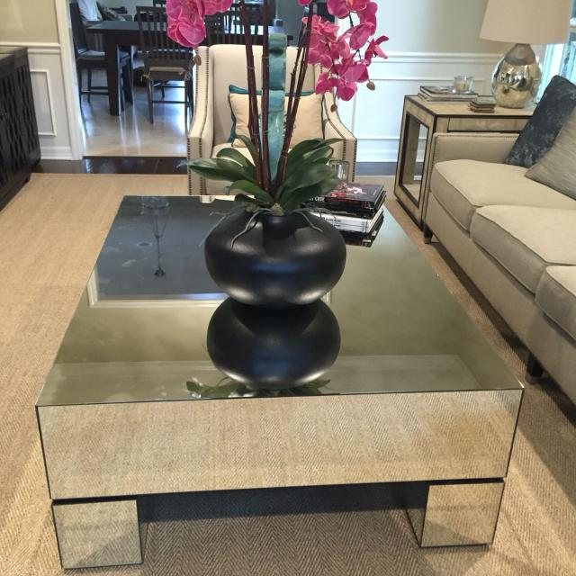 The Estelle Mirrored Coffee Table By Bernhardt Measurements Are 40 X 56 Inches