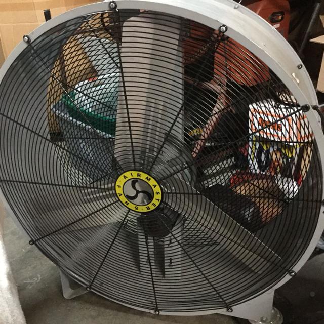 Air master EMC42D Portable Mancooler floor fan 3-blade belt drive, 1/2 HO  115 volt 14000/8000 com, 42