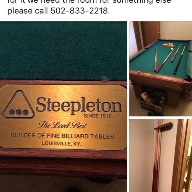 Best Pool Table For Sale In Louisville Kentucky For - Steepleton pool table