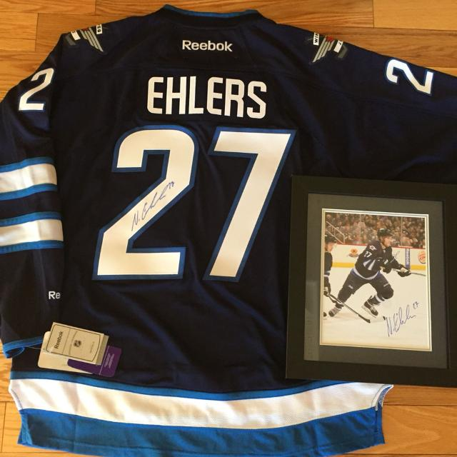 more photos bb7f7 2977b Signed Nik Ehlers Winnipeg Jets jersey