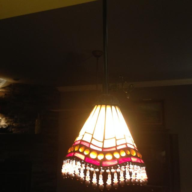 Stained Glass Pendant Light Globes For Sale