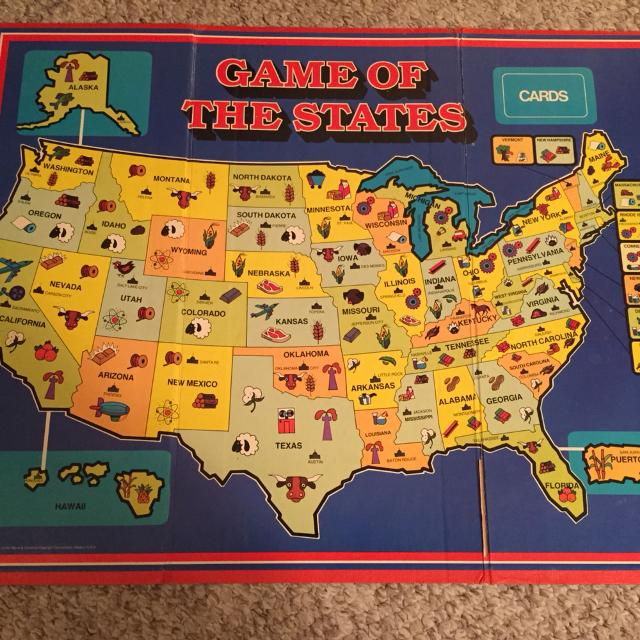 """Find more Vintage! Original 1979 Game Board Of """"game Of The States ..."""