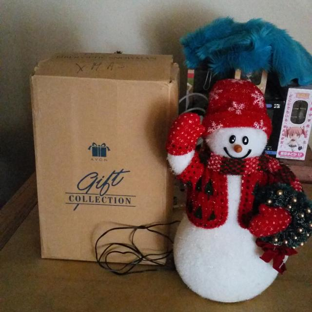 avon fiber optic snowman - Fiber Optic Snowman Christmas Decorations