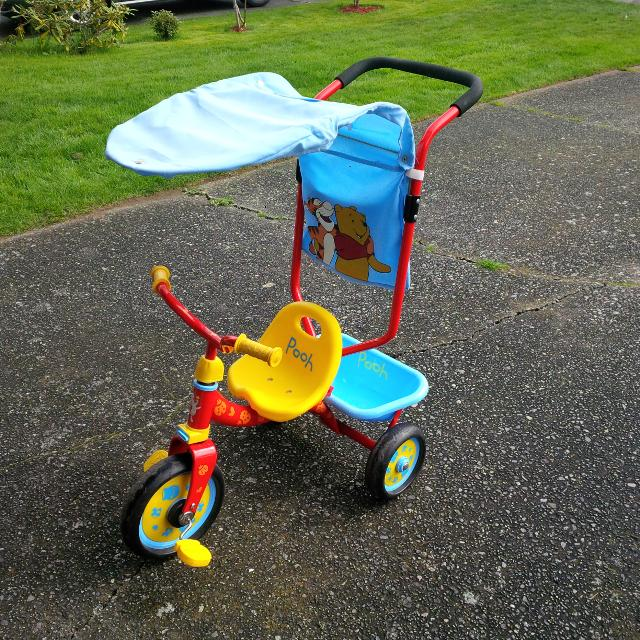Winnie the Pooh Canopy Tricycle