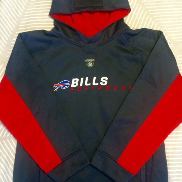 Best Nfl Team Apparel  Buffalo Bills Navy Blue Pullover Hoodie. for sale in  Huntersville 0aab4554b