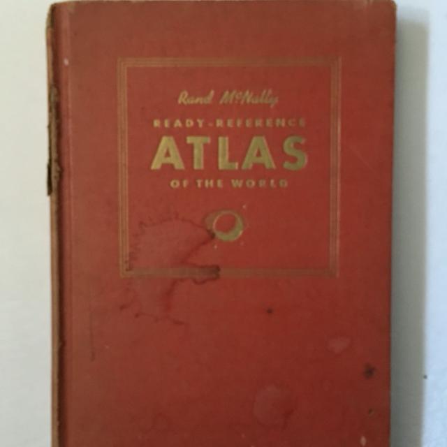 1941 hard cover Rand McNally World Atlas