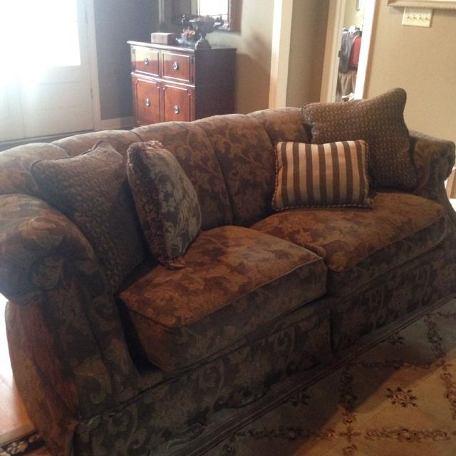 Paisley Sofa Two Piece Sectional Paisley Sofa By Bernhardt