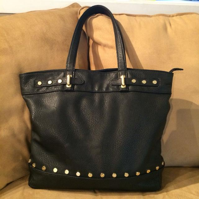 Large Olivia Joy Vegan Black Tote With Studs In Vguc 15 Xp