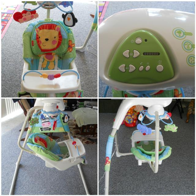 Fisher Price Jungle Themed Discover N Grow Cradle Swing