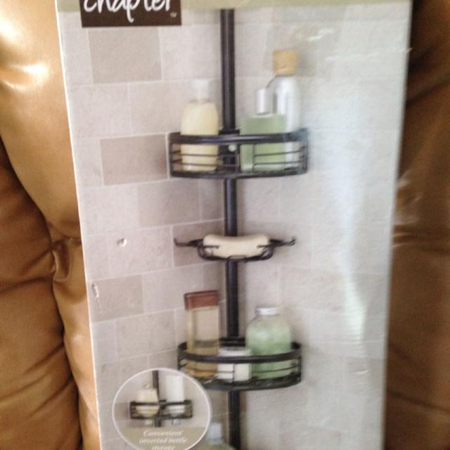 NEW  by CHAPTER  beautiful  elegant oil rubbed bronze tension pole shower  caddy. Find more New  By Chapter  Beautiful  Elegant Oil Rubbed Bronze